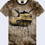 Крутая 3D футболка Танк