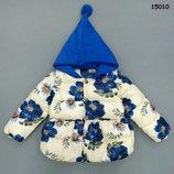Куртка деми на девочку с капюшоном, Китай, Демисезонная куртка, р.92-98-104-110-116-122