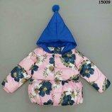 Куртка деми с капюшоном, Китай, Демисезонная куртка на девочку, р.86-92-98-104-110-116-122