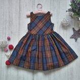 4 года Платье пышное клетка Ralph Lauren