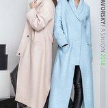 стильное длинное пальто Велтис в разных цветах Я 00189