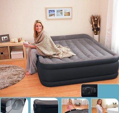 Двухспальная надувная кровать Intex 64136 со встроенным насосом 220V