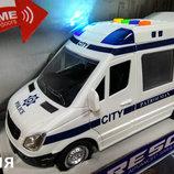 Машина Бус Полиция WY590C , муз.,свет , инерционная