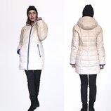 Распродажа Зимний пуховик молочного цвета Caroles Фабр-Й Китай. Гарантия тепла и качества
