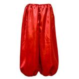 Красные шаровары на мальчика от 35см - до 100 см
