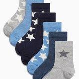 Набор спортивных носков со звездами 7 пар Мальчики