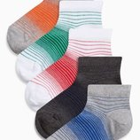 Набор из пяти пар коротких носков в яркую полоску Парни