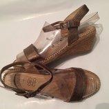 рр 40-25,5 см полностью кожаные босоножки с плетеной подошвой G flex