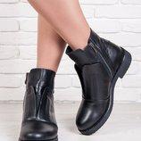 Комфортные кожаные женские демисезонные ботинки 36-40р