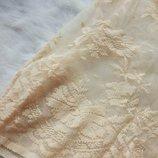 ажурная блуза кроп топ беж нюд гипюр майка вышивка