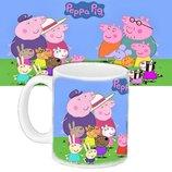 Детская чашка подарок с принтом Свинка Пеппа