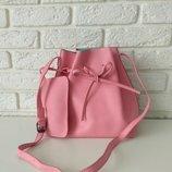 Ультрамодная молодежная сумка Нью Йорк Pink на каждый день