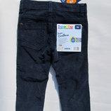 Вельветовые синие штаны на 1, 5 лет Рост 86 см Lupilu - Германия