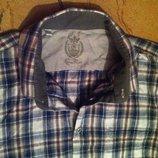 Стильная мужская рубашка в клетку от cermi ruso, оригинал l