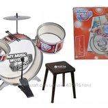 Барабанная установка со стульчиком Simba 6839858