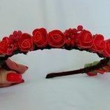 Очаровательный ободок для волос с цветами