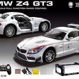 Машина аккум р/у BMW Z4 GT3 , белая, пульт на батар. , в кор 37 16 15,5см