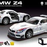 Машина аккум р/у BMW Z4 , белая, пульт на батар. , в кор 19 8,2 5см