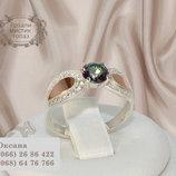 Серебряное кольцо Розали Мистик топаз