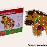Деревянная игрушка шнуровка Лошадка M02140