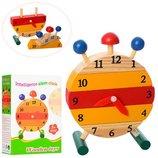 Деревянная игрушка Часы - сортер, конструктор