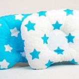 Подушка ортопедическая для новорожденных BabySoon Лазурные звездочки 22 х 26 см 164