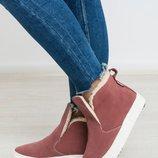 Стильные кожаные ботинки / слипоны. Деми или зимние Супер качество