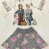 Красивый нарядный костюм для девочки Frozen Белый Рост 98-128 см