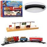 Железная дорога с пероном рельсы 282 см настоящий дым, свет, звуковые эффекты