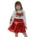 Вышиванки детские для девочки Соломия от 7 до 13 лет