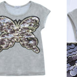 футболка с паеками нарядная для девочки 86-128р