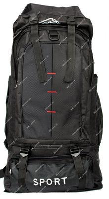 Спортивный рюкзак туристический для мужчин черного цвета 50307