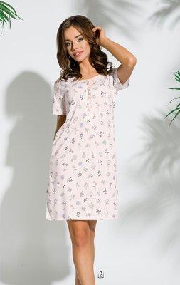 4ee23a4ec69f234 Женская ночная рубашка из высококачественного хлопка. Впереди застежка на  пуговицы,