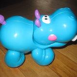 Развивающая игрушка-крутилка трещотка Бегемотик Fisher Price