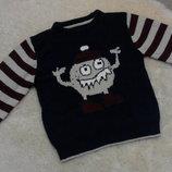 Интересный свитерок Rebel на мальчика 5-6 лет
