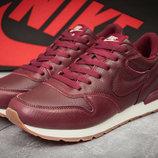 Кроссовки мужские Nike MD Runner, кожа,бордовые