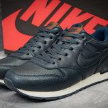 Кроссовки мужские Nike MD Runner,кожа,темно-синие
