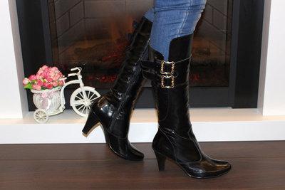 Сапоги женские черные на каблуке натуральная кожа  950 грн ... 475ce608b68