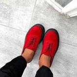 Шикарные женские натуральные кожаные туфли / мокасины на платформе