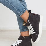 Шикарные кожаные кеды / ботинки на весну Разные цвета Отправка новой почтой бесплатно