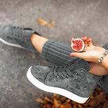 Шикарные кожаные зимние и деми кеды / ботинки Разные цвета Отправка новой почтой бесплатно