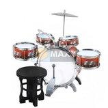 Набор детских барабанов стульчик тарелка, ударная установка XL. Польша. И.