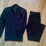 Мужской классической костюм, или на подростка, цвет чёрный.