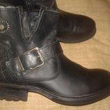 37р-24.5 см кожа ботинки Replay