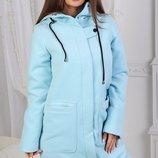 Женское пальто, спортивного кроя