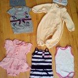 Одежда для маленькой принцессы 0-6мес.