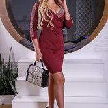 Шикарное платье с красивым декольте 939