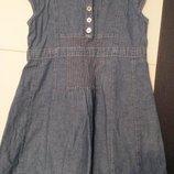 летнее платье тонкий джинс рост 104 см.