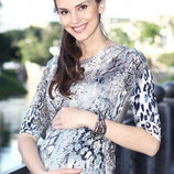 Джемпер для беременных Алеся, леопардовый принт