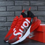 Кроссовки мужские Nike Air Max 270 SUPREME Red/Black/White